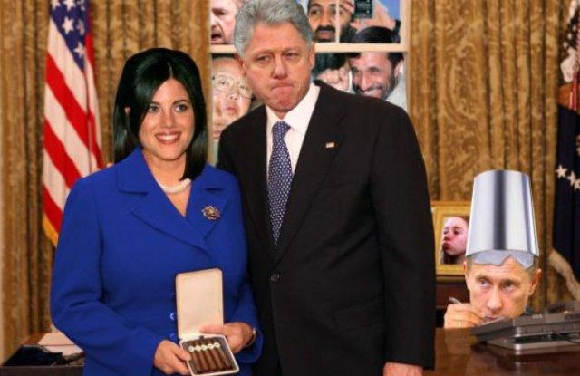 Резултат с изображение за Бил Клинтън  Моника Люински.